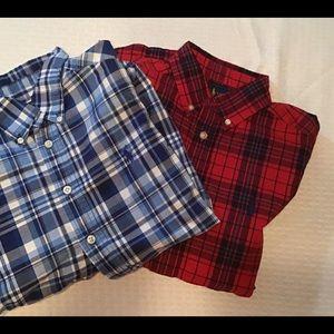 2 Ralph Lauren plaid button down boys shirts
